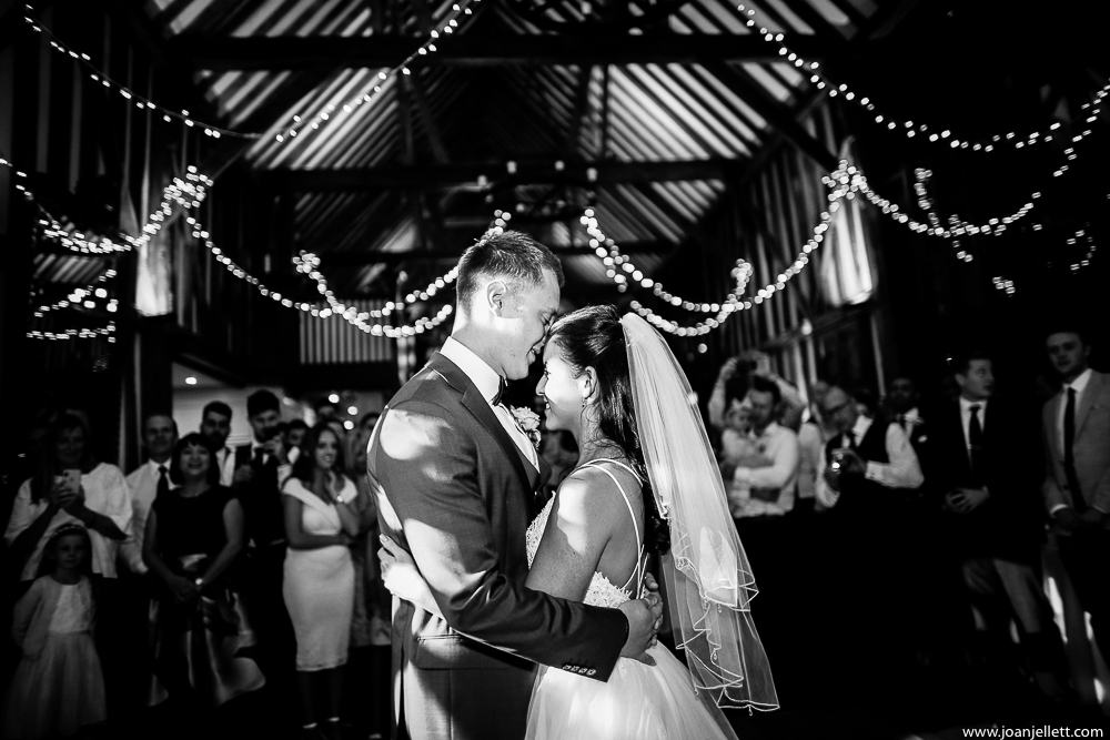 bride and her groom's first dance