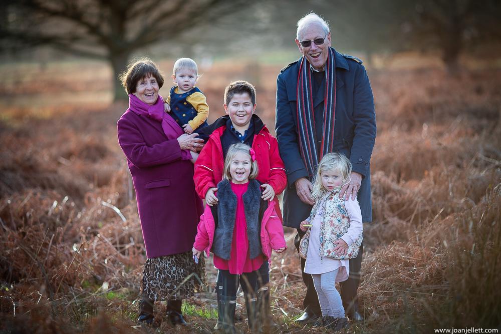 grandparents with grandchildren photography Richmond Park