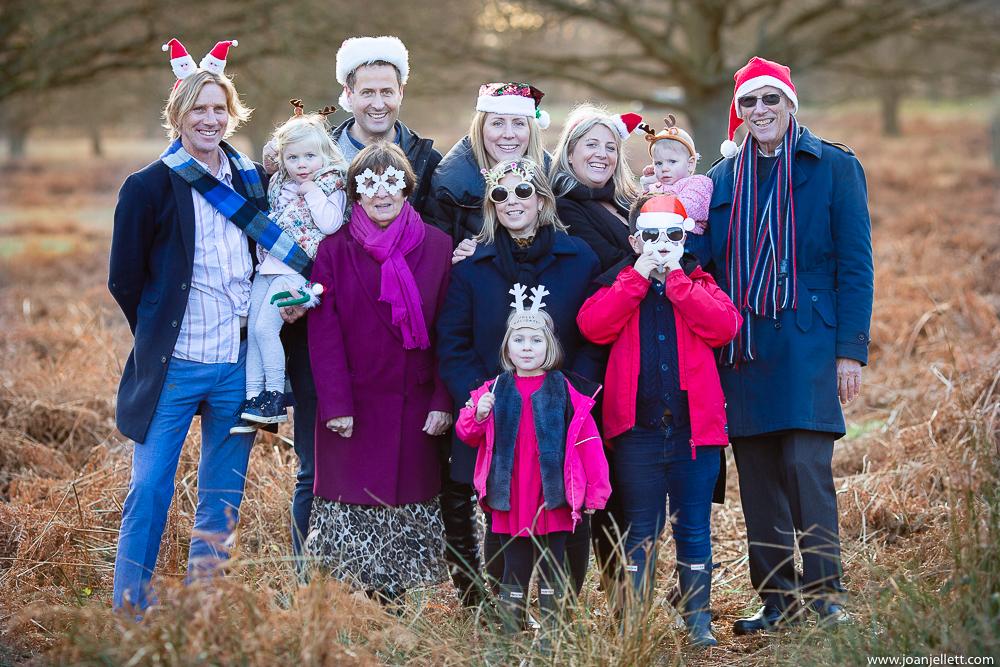 Richmond Family Photographer at christmas