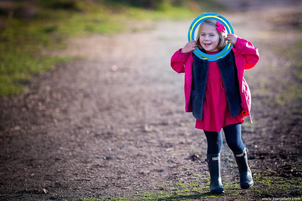 little girl giggling in Richmond park