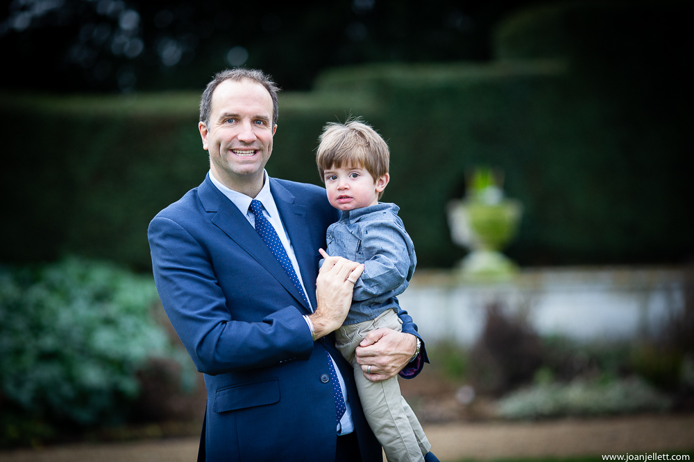 dad and son giggling at the Luton Hoo