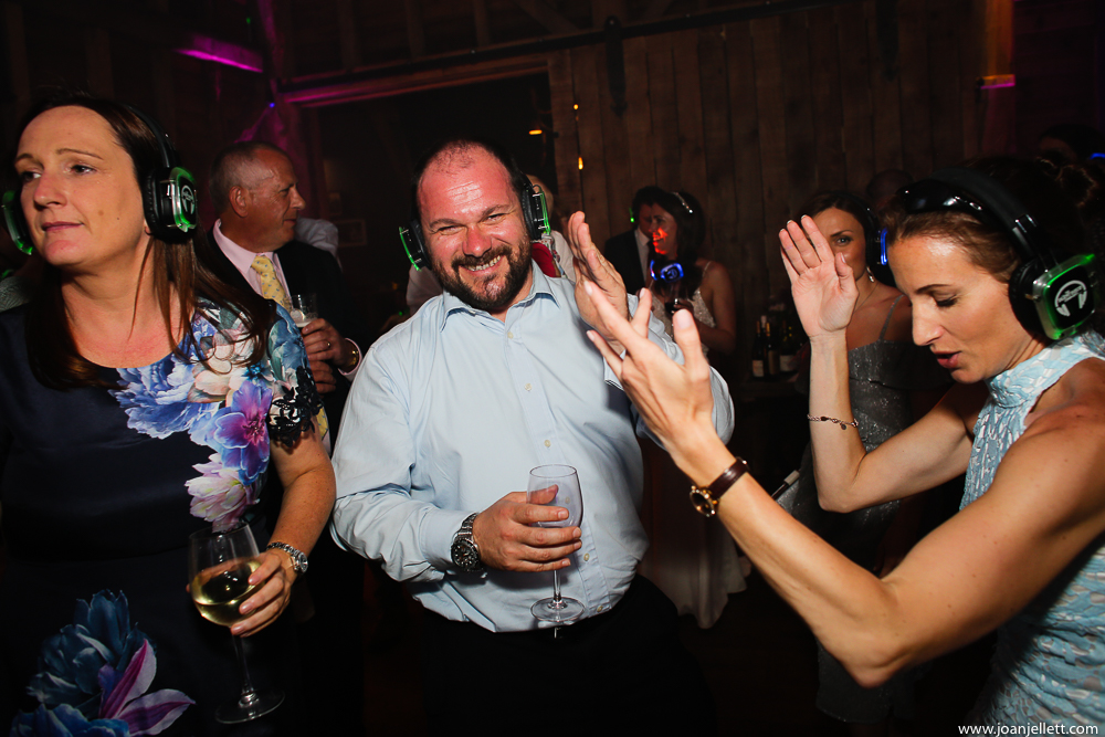 guests dancing with the silent disco moves