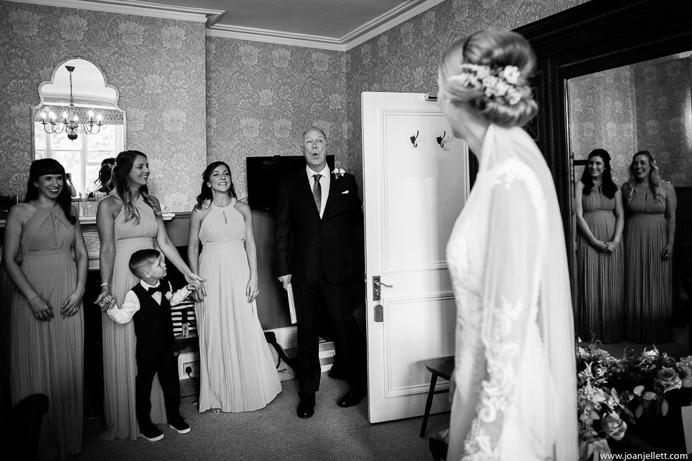 dad's reaction during bridal prep