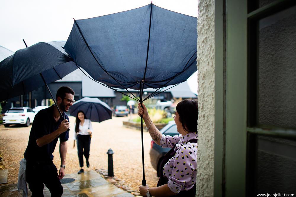 umbrella going flying