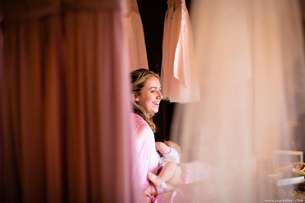 bridesmaid breastfeeding