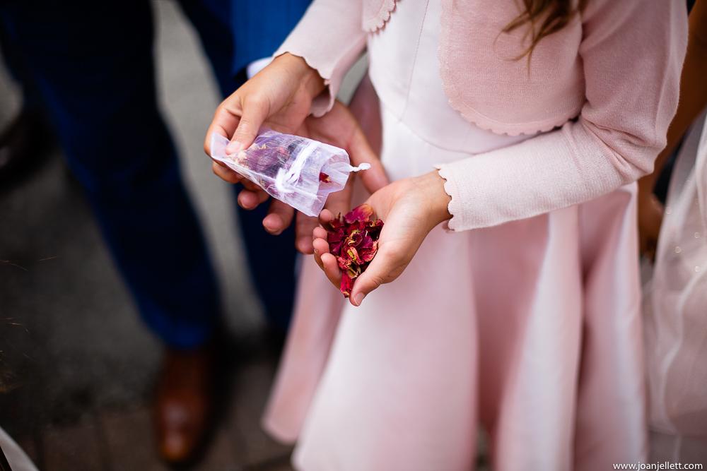 confetti detail shot in hand