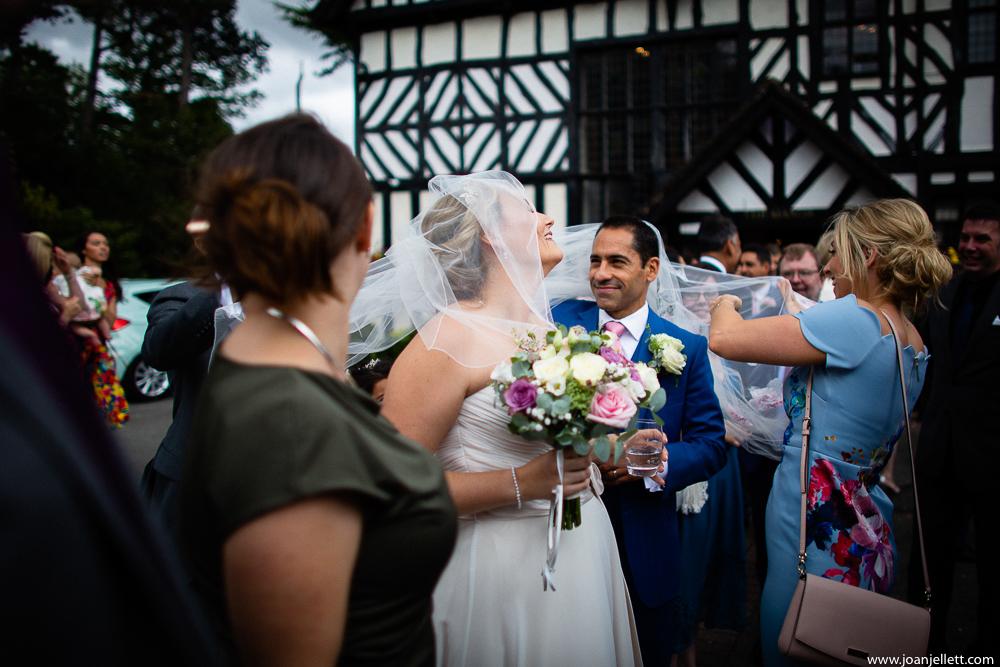 veil groom's face