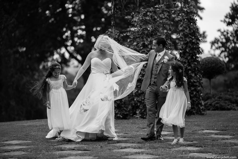 family walking towards the camera