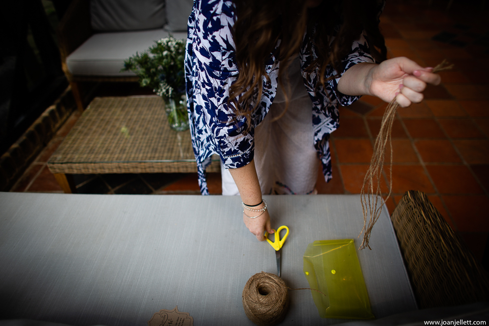 bride cutting ribbons
