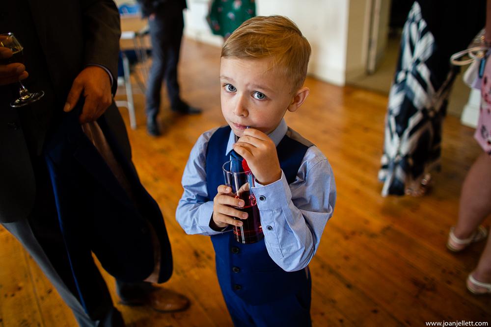 kid drinking a drink