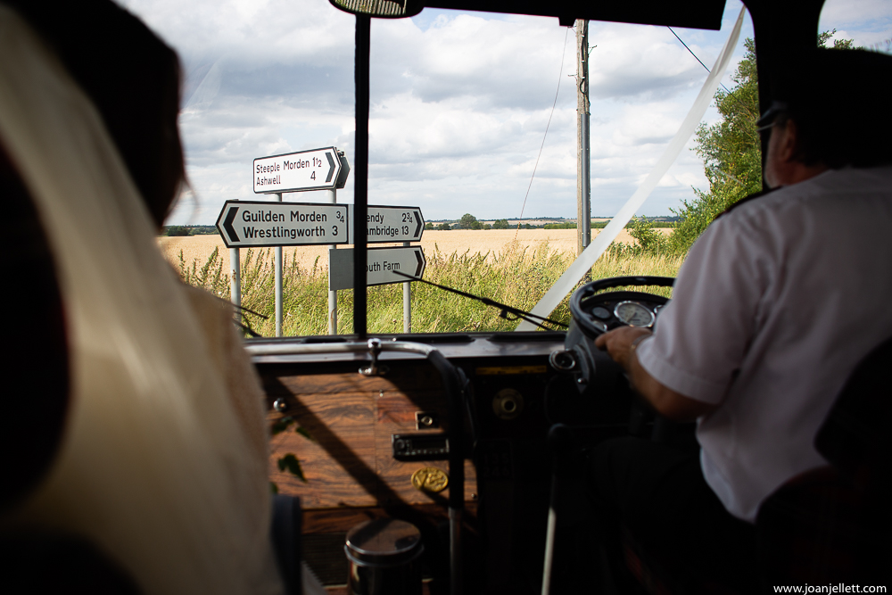 view from the coach