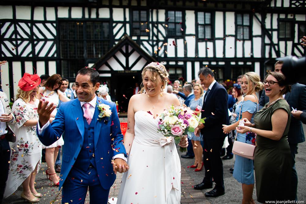 confetti walk at Elstree manor