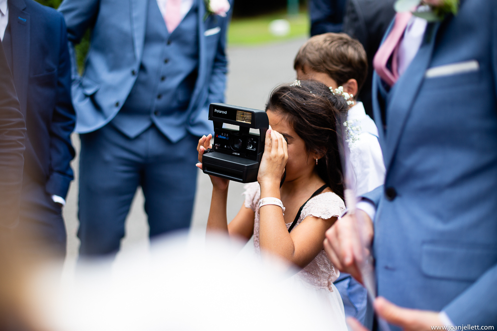 little guest taking pictures