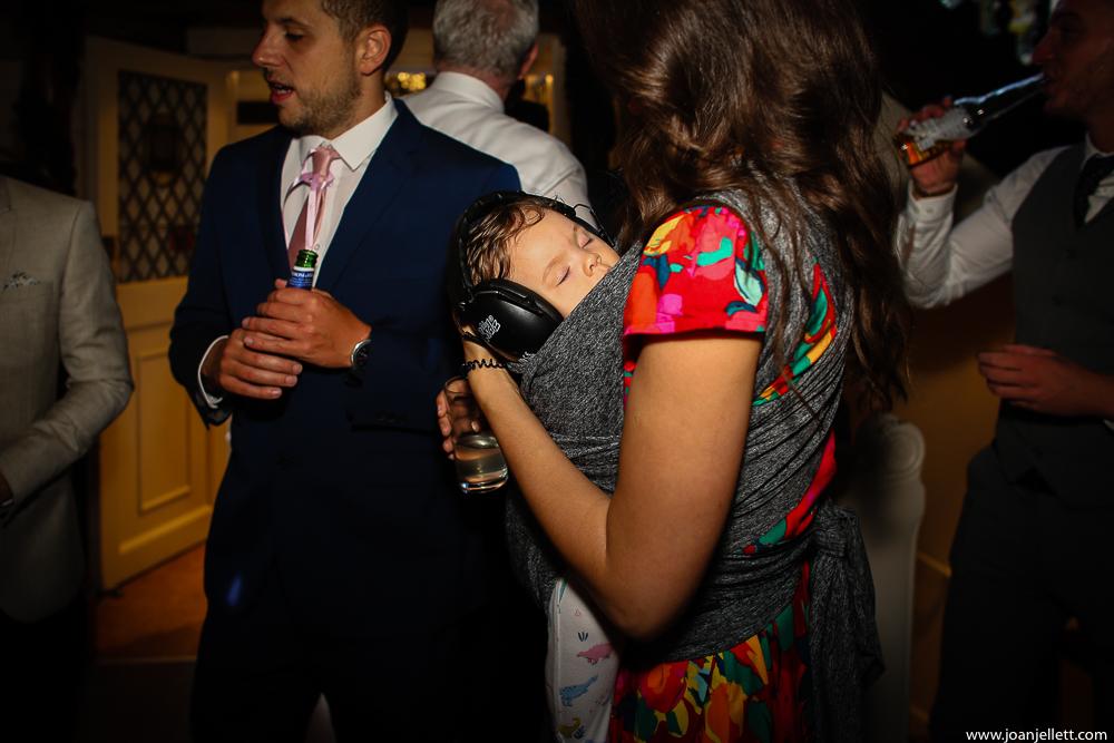 baby asleep with earphones