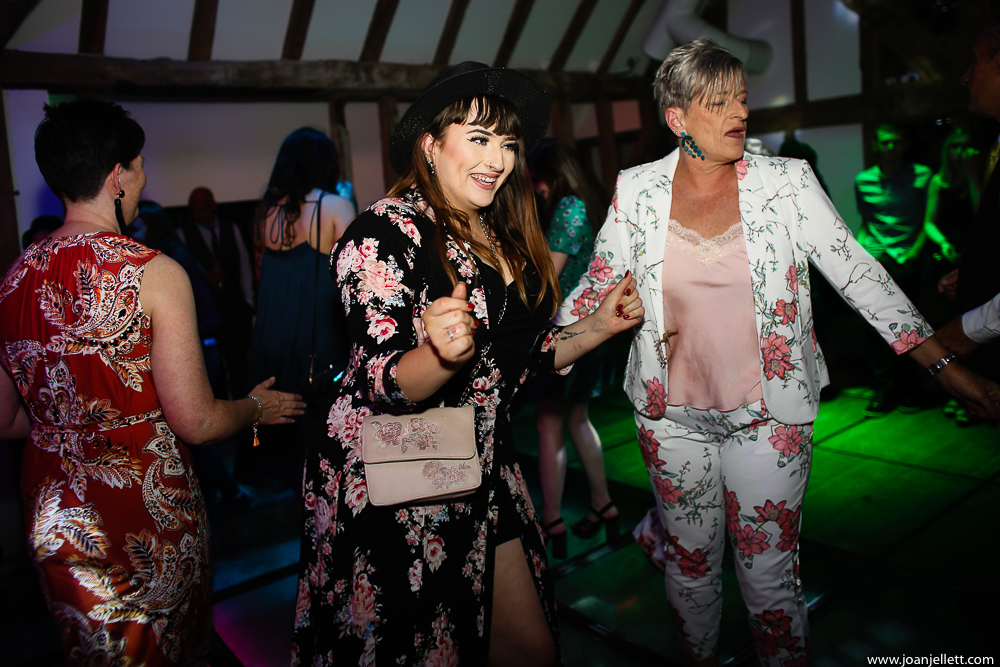 guests dancing on the dance floor at south farm