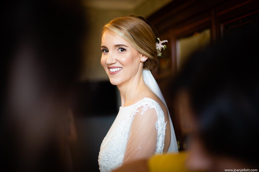 bride looking back at me