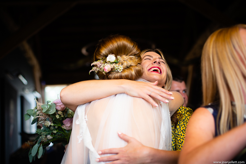 bride greeting her guests