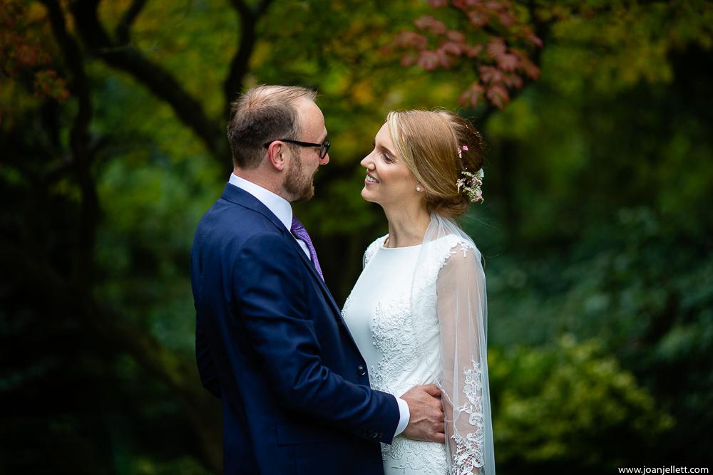 bride looking at her groom lovingly