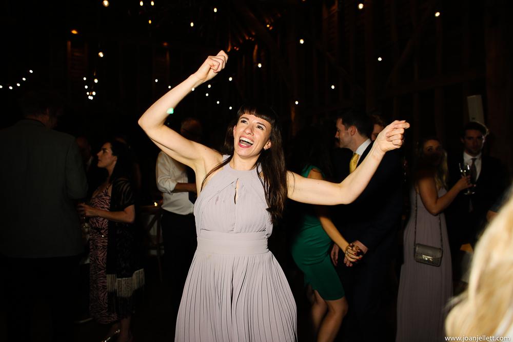 bridesmaid dancing the night away