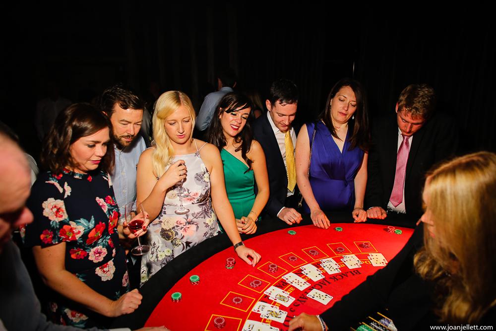 casino playing at a wedding