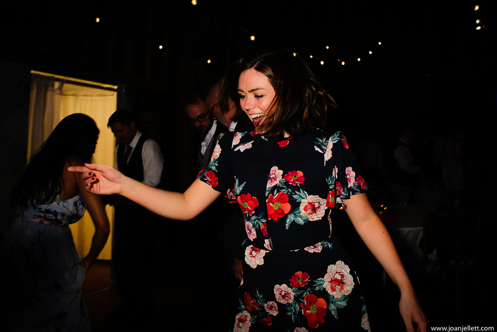 girl dancing alone